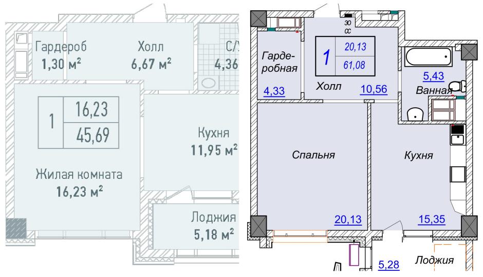 Однокомнатная квартира в ЖК Бульвар фонтанов