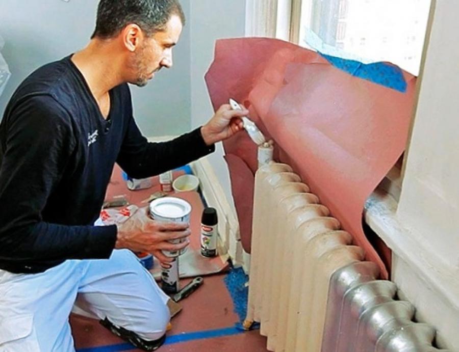 покраска радиаторов отопления