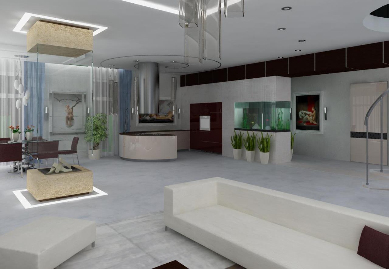 трехкомнатная квартира со свободной планировкой