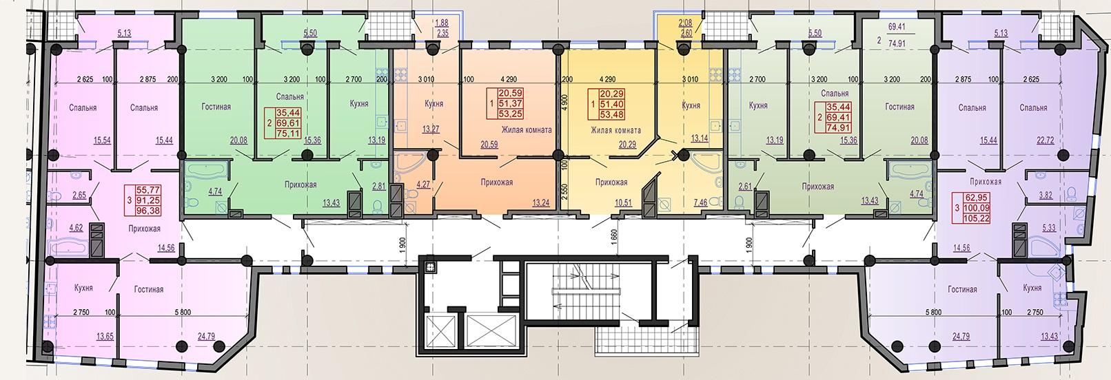 Планировка квартир в бизнес-классе