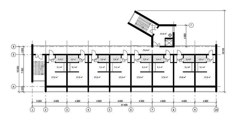 планировка квартиры галерейного типа