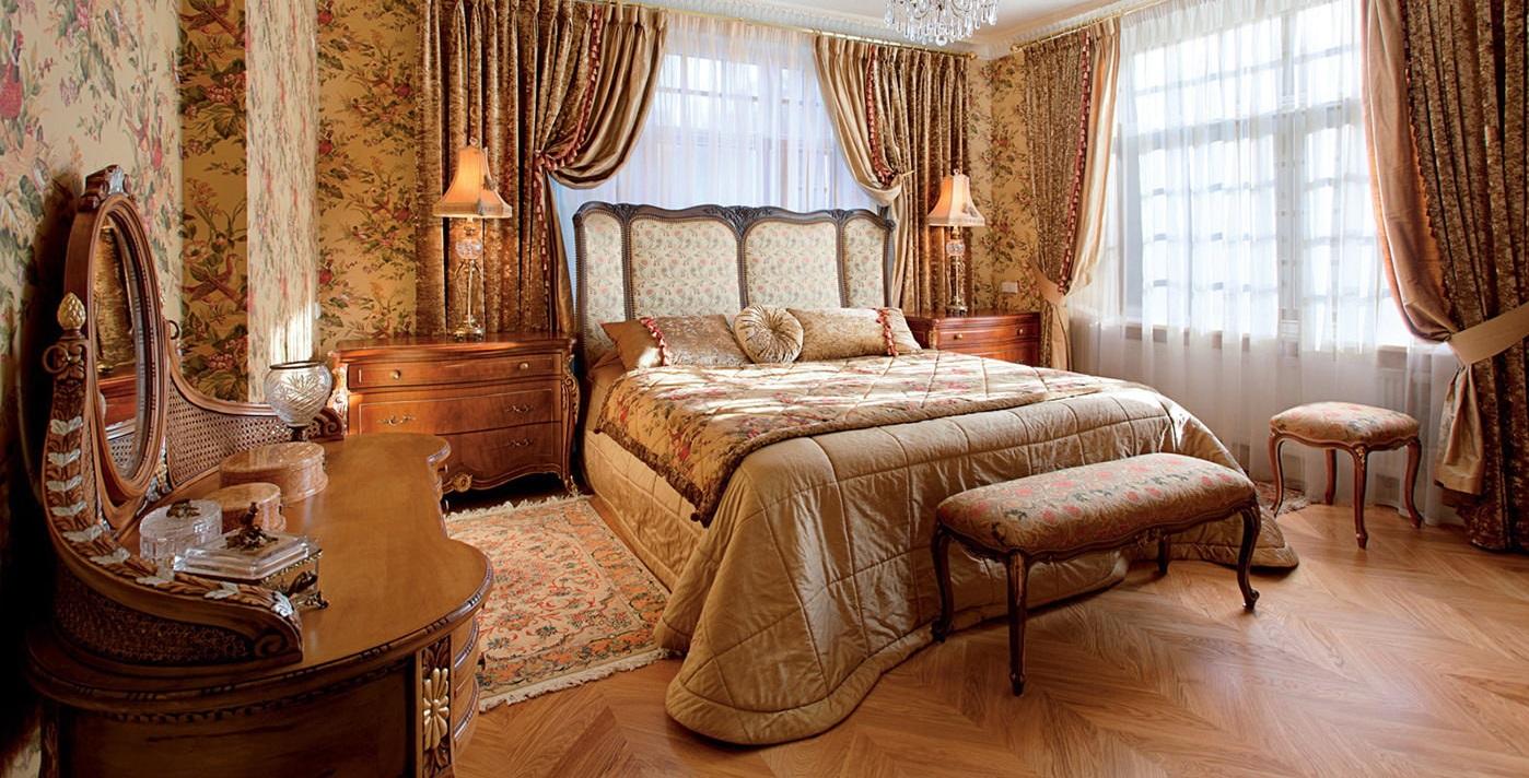 спальня в английском стиле фото