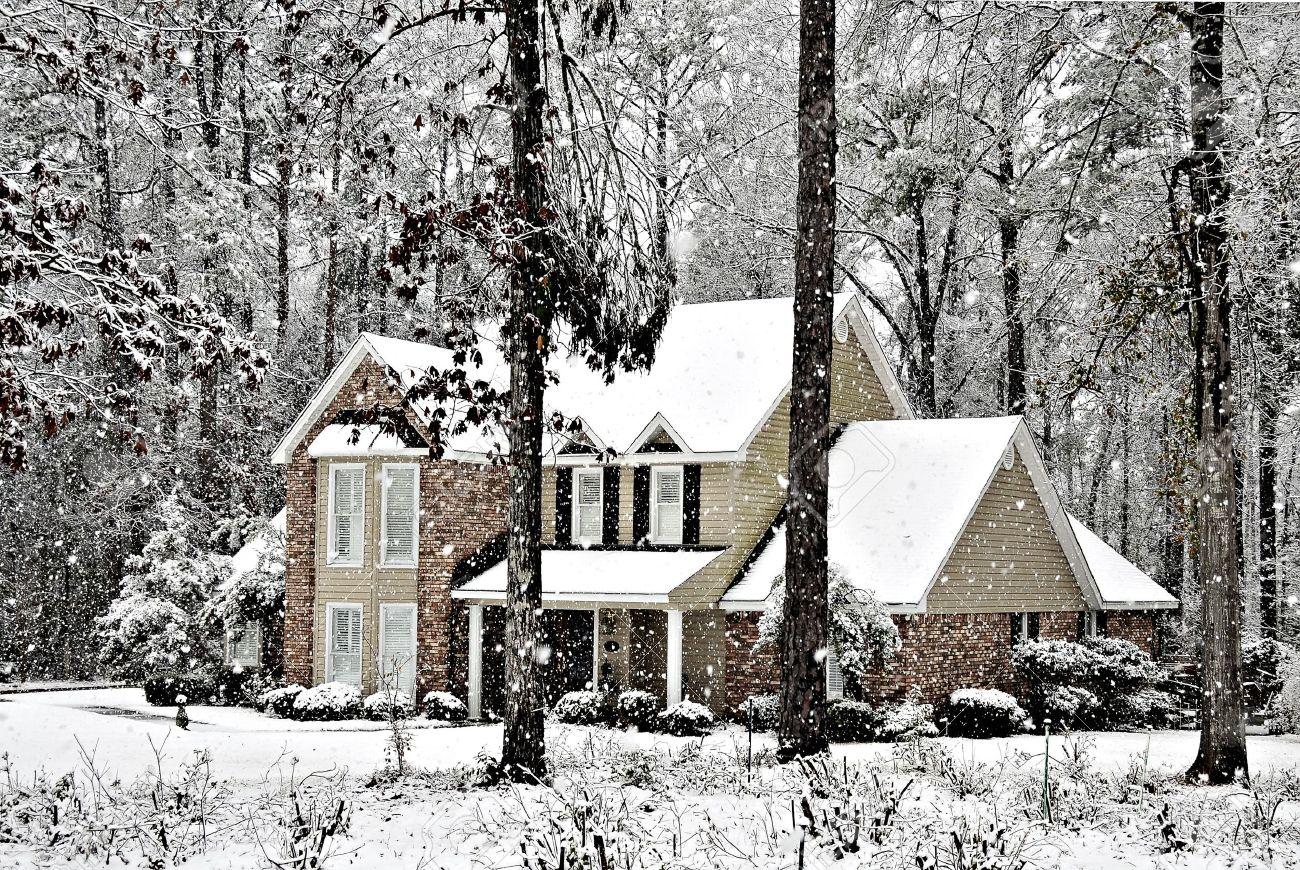 Продажа дома зимой
