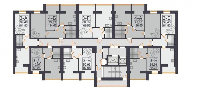 Планировка этажа в новостройке комфорт-класса