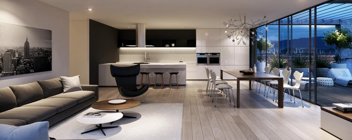 интерьер квартиры в стиле хай тек фото