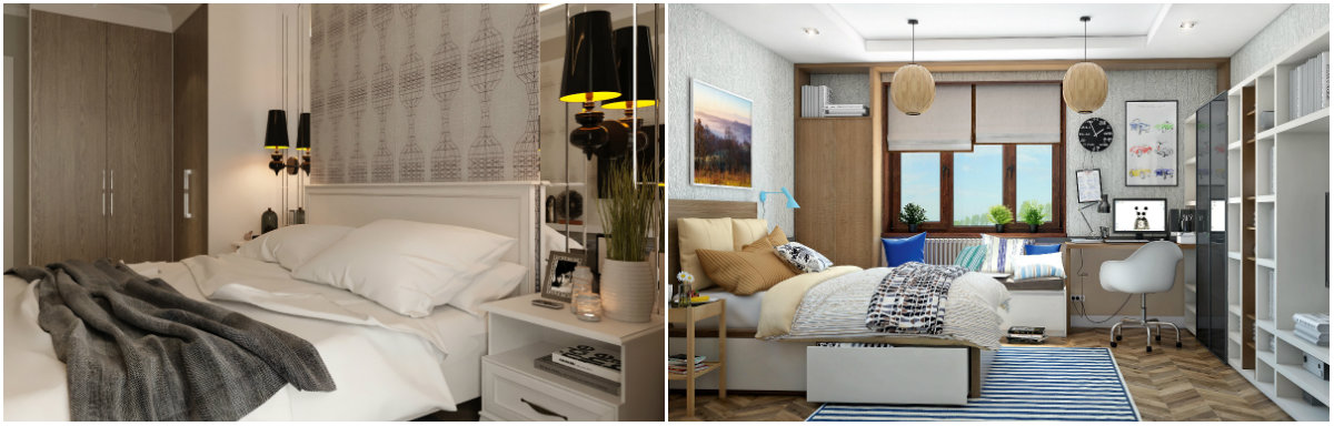дизайн спальни в современном стиле фото