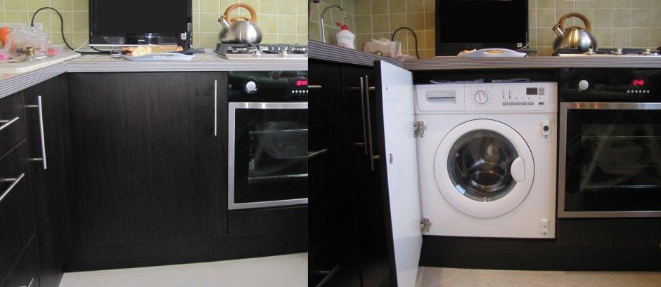 Размещение стиральной машинки в нише
