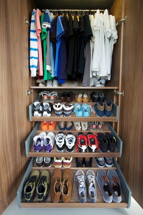 Выдвижные полки для обуви