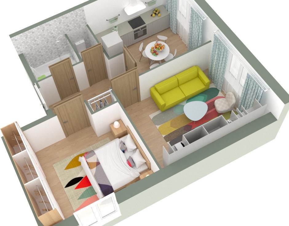 из трехкомнатной квартиры в двухкомнатную