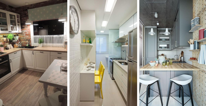 Дизайн небольшой кухни фото