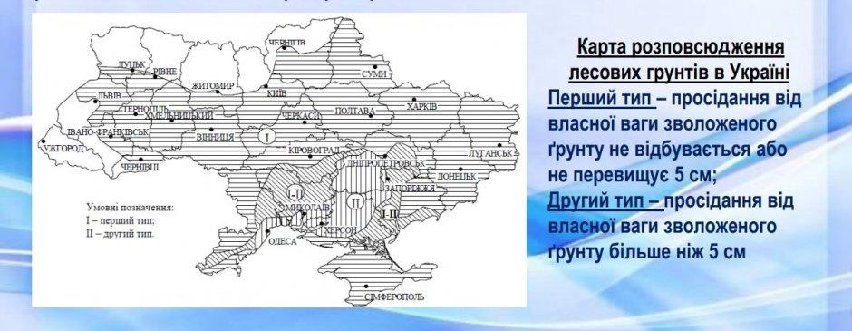 карта грунтов Украины