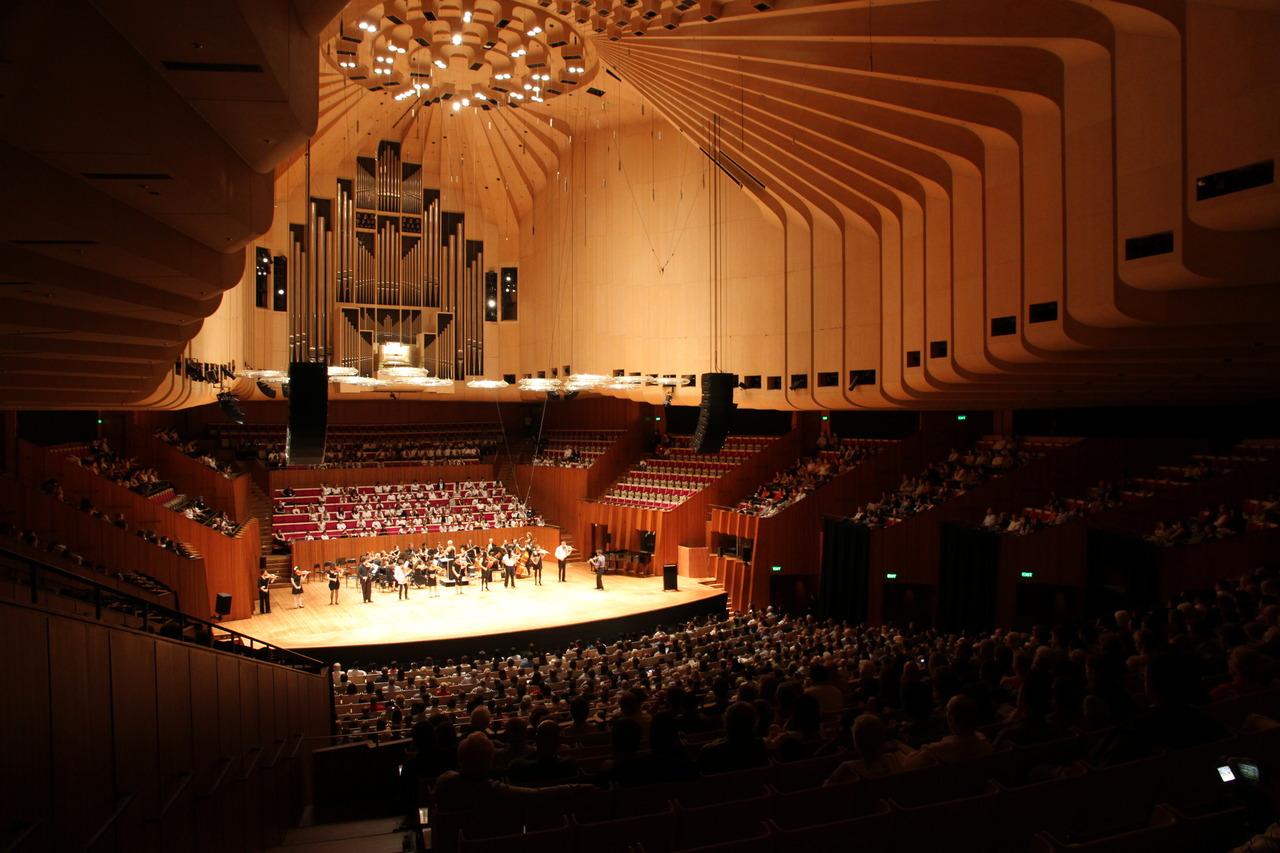 сиднейский оперный театр внутри