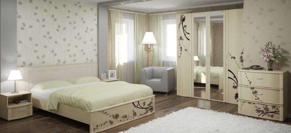 Сочетать в спальне цвета
