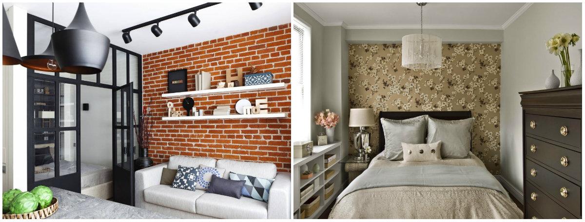 Выбрать обои в маленькую гостиную