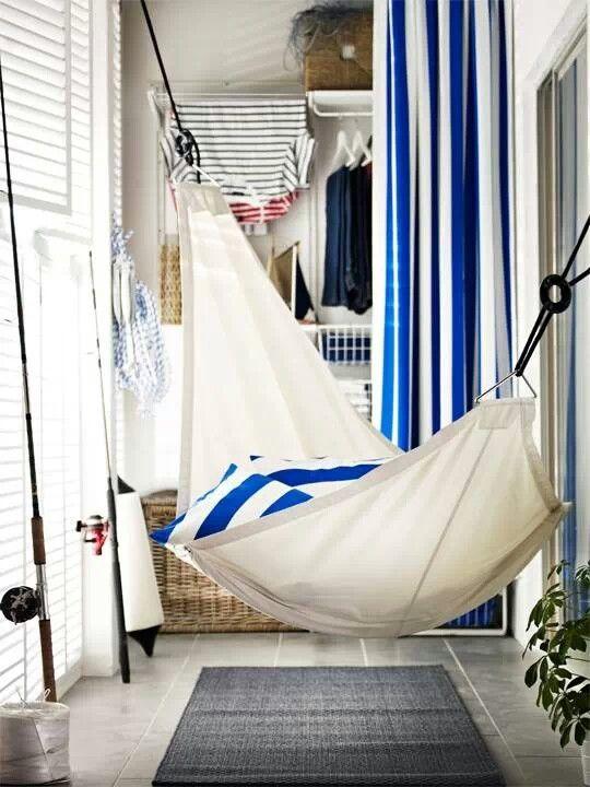гамак на балконе - отдыхаем, покачиваясь