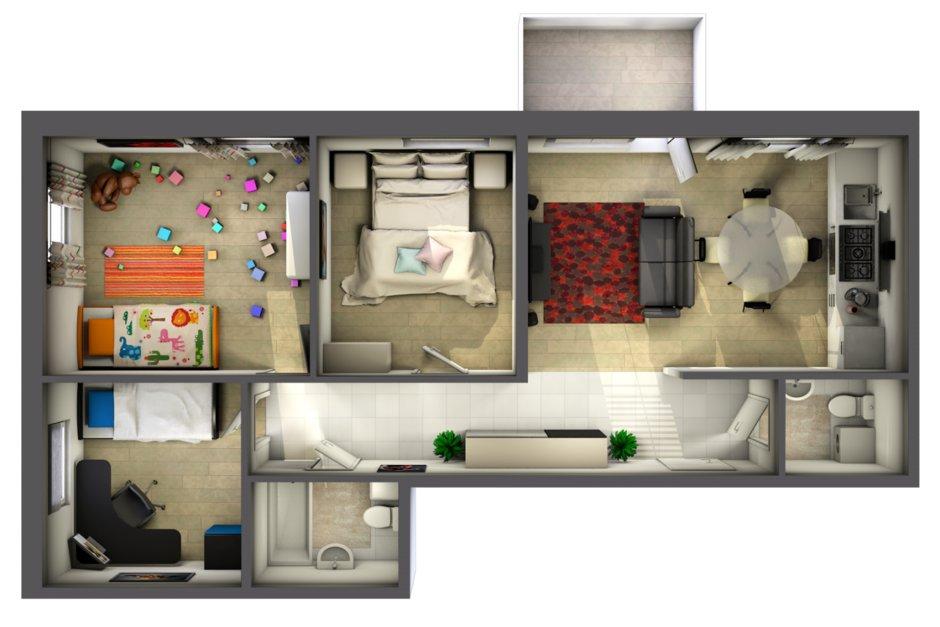 варианты перепланировка 3-комнатной квартиры