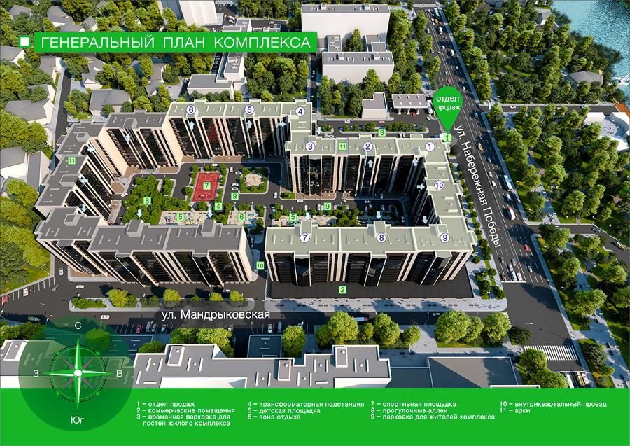 ЖК River Park генеральный план