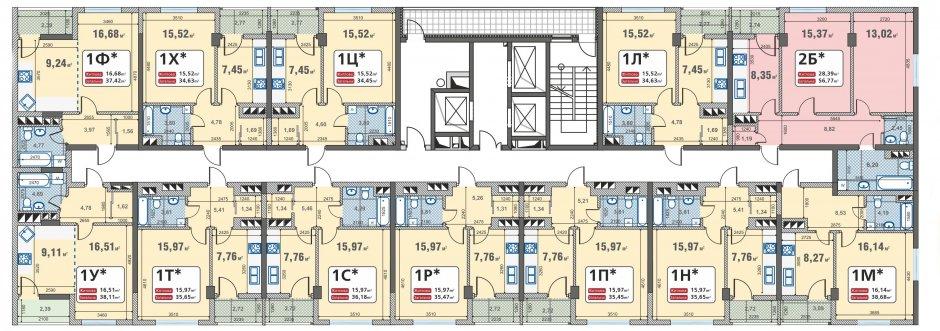 Планировка квартир в новостройке эконом-класса