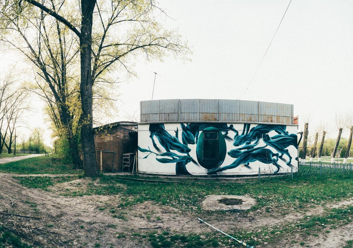 мурал в Чернобыле