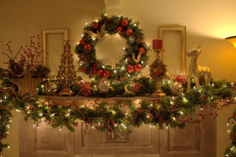 украсить квартиру к рождеству