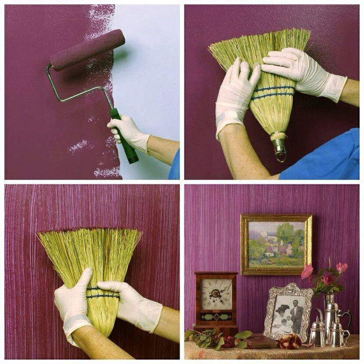 Фарбування стін віником