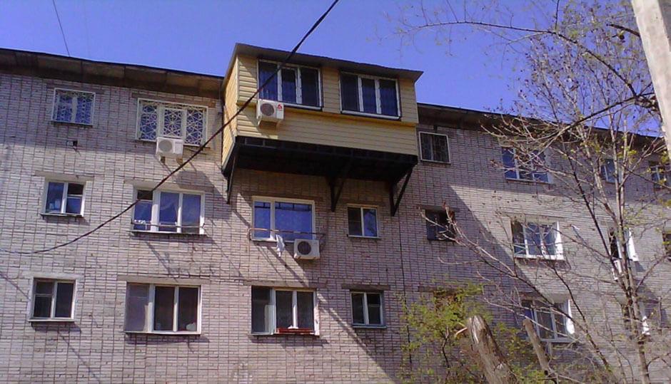 Самострой балкон