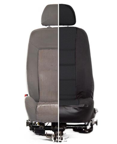 Сравнение сиденья до и после установки
