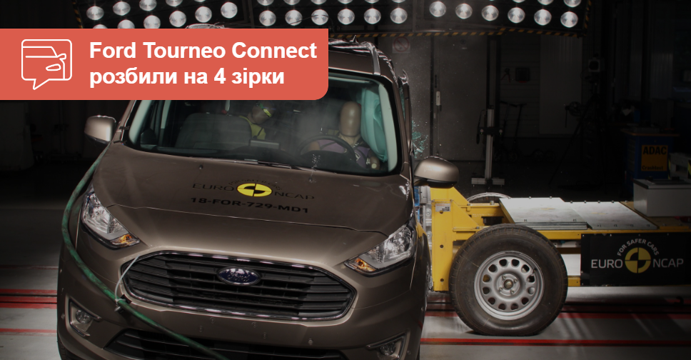 Обновленный Ford Tourneo Connect разбили на 4 звезды
