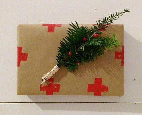 Картофельный штамп для подарков