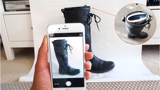Как фотографировать обувь со стороны