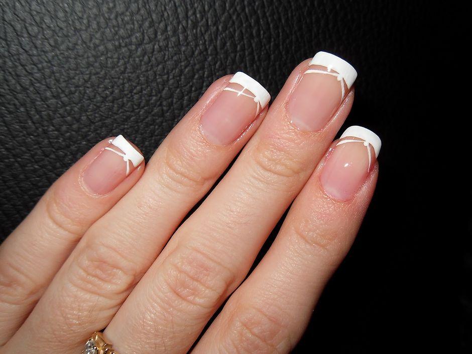 Френч на коротких ногтях на свадьбу