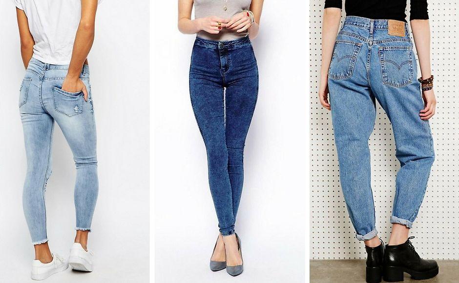 Джинсы с необработанными краями, супер-скинни и Mom Jeans