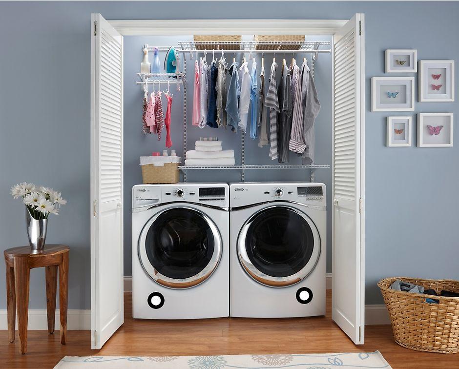 Размещение стиральной машины в кладовке