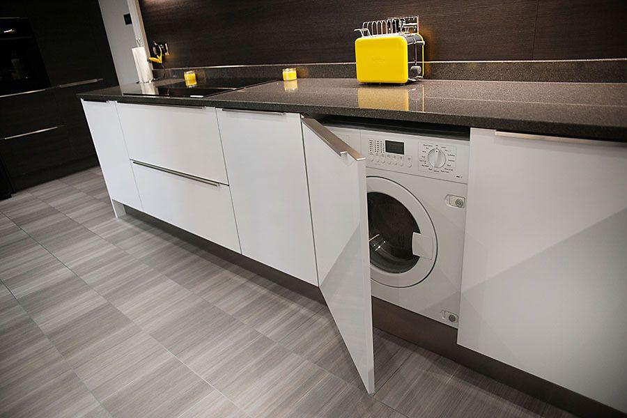 Размещение стиральной машины в кухне