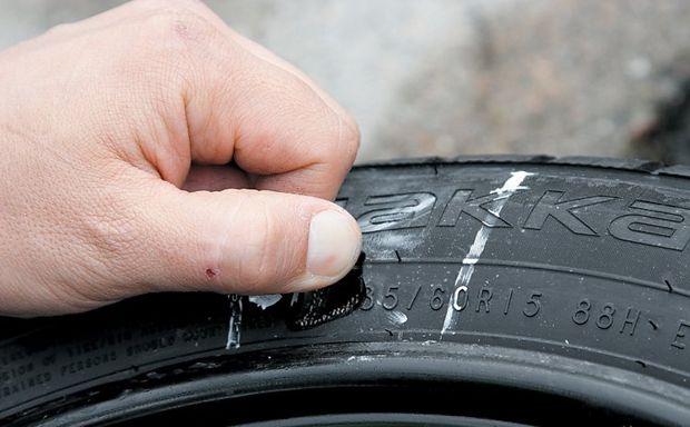 Основные повреждения шин
