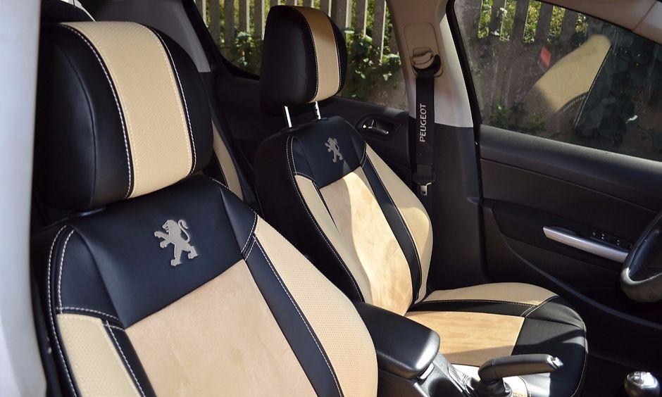 Чехлы на сиденья от Союз-Авто(Экокожа+алькантара)