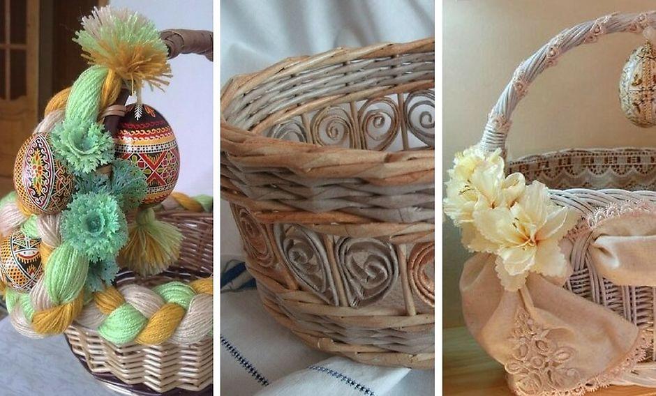 Как украсить пасхальную корзину