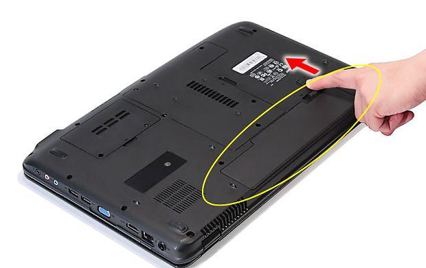 Отключаем аккумулятор ноутбука