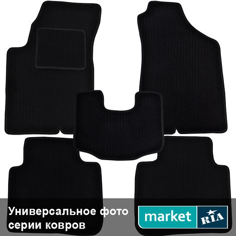 Коврики в салон Virtus Twincord (Высокий ворс) из высокого ворса (черные) для Fiat Punto 2012-2018: фото - MARKET.RIA