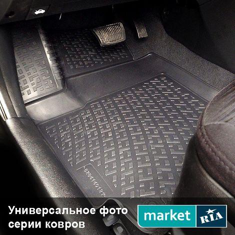 Купить Коврики в салон для Ford B-Max (L.Locker), Полный комплект, 3D, Черный, Термоэластопласт