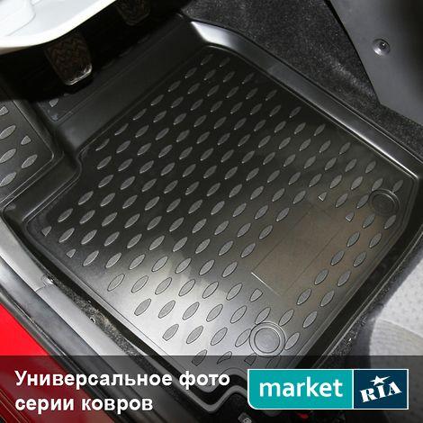 Купить Коврики в салон для Mitsubishi L200 (Novline), Полный комплект, 3D, Черный, Полиуретан