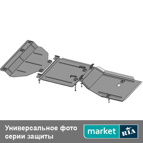 Купить Защита двигателя на Opel Antara (Кольчуга), Standart, Сталь 2 мм