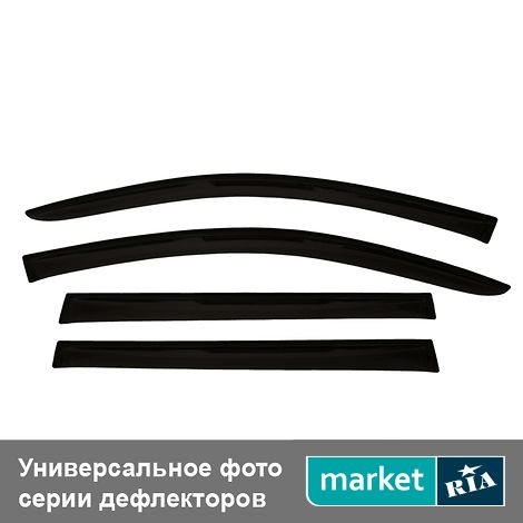 Купить Дефлекторы окон на Chery Amulet (ANV-air), Acrylic, Черный