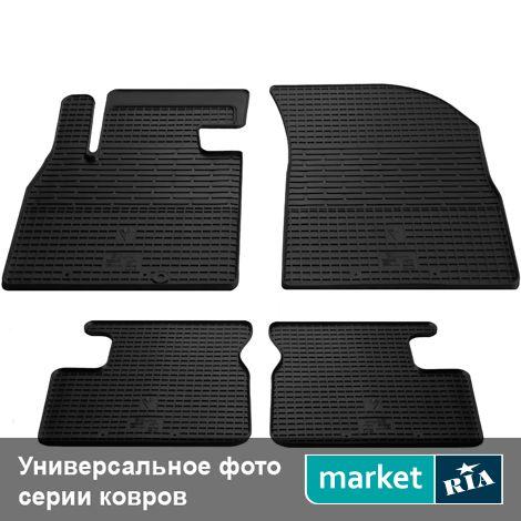 Купить Коврики в салон для BMW X4 (F26) (Stingray), Полный комплект (5 мест), Standart, Черный, Резина