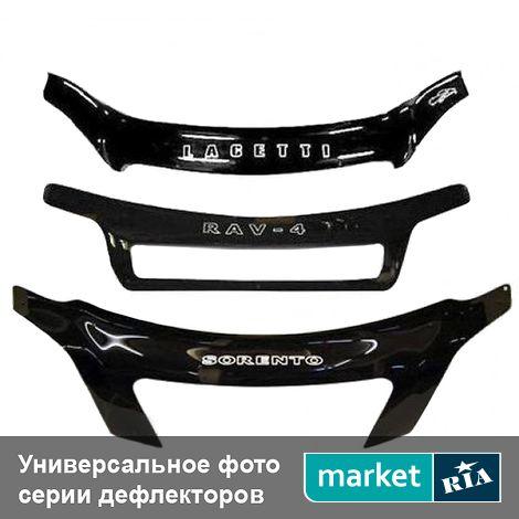 Купить Дефлектор капота на BMW X3 (E83), Plastic, Vip Tuning, Черный