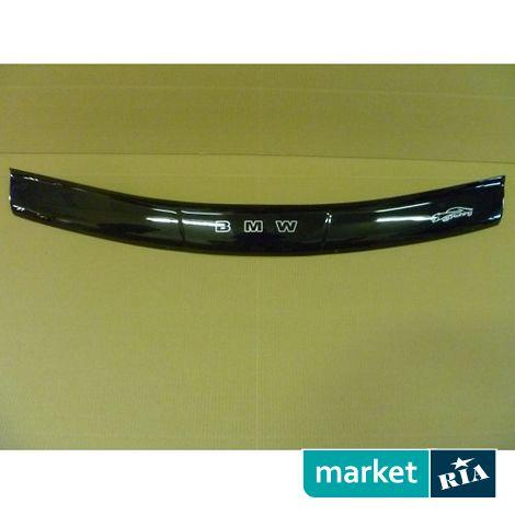 Купить Дефлектор капота на BMW 5-series (E34), Plastic, Vip Tuning, Черный