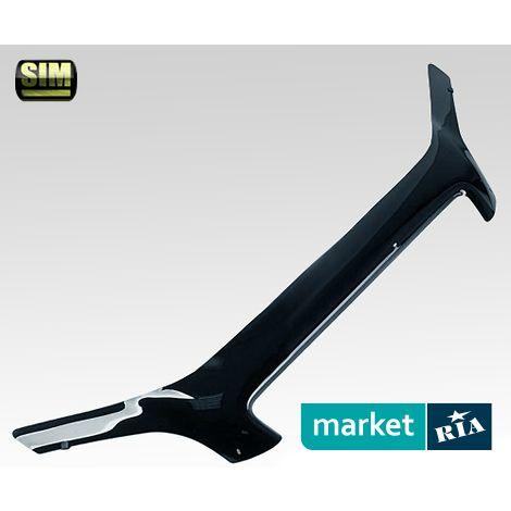 Купить Дефлектор капота на Fiat Doblo, Acrylic, SIM, Черный