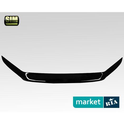 Купить Дефлектор капота на Volvo V70, Acrylic, SIM, Черный