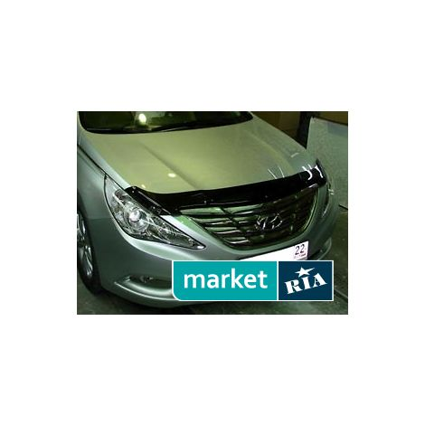 Купить Дефлектор капота на Hyundai Sonata, Acrylic, SIM, Черный