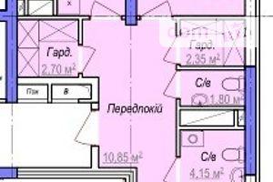 Продається 2-кімнатна квартира 73.8 кв. м у Одесі